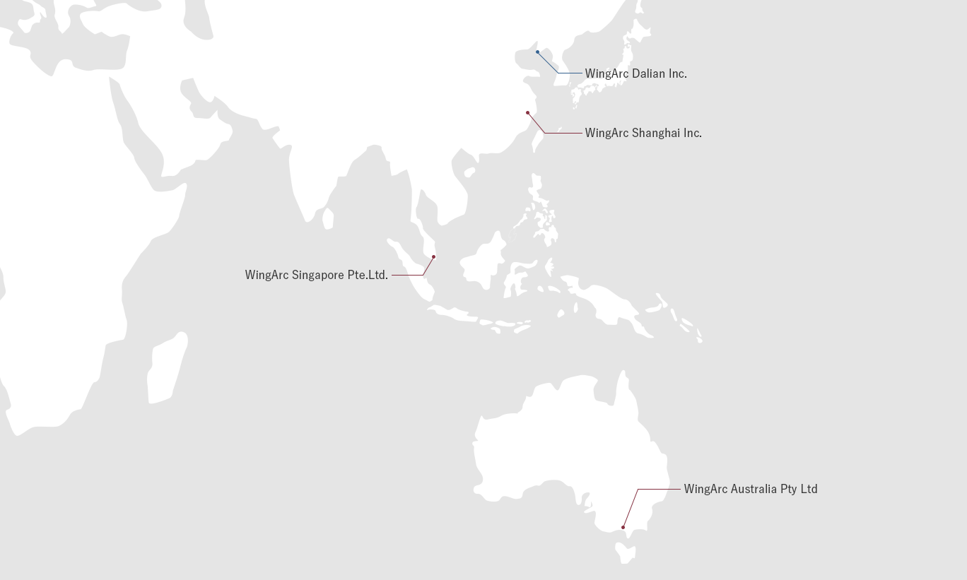 Map 8f Australia.Offices And Group Companies About Wingarc1st Inc